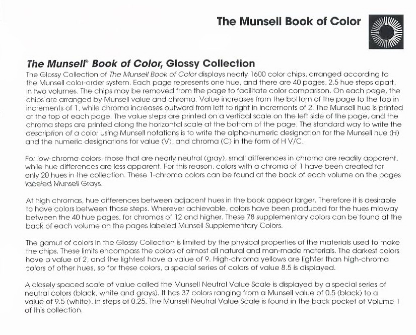 Munsell Book of Colour Glossy Edition,